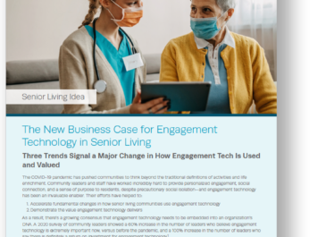 The New Business Case for Engagement Technology in Senior Living