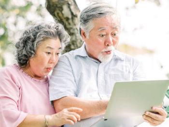 Elders enjoying content from Saltbox TV